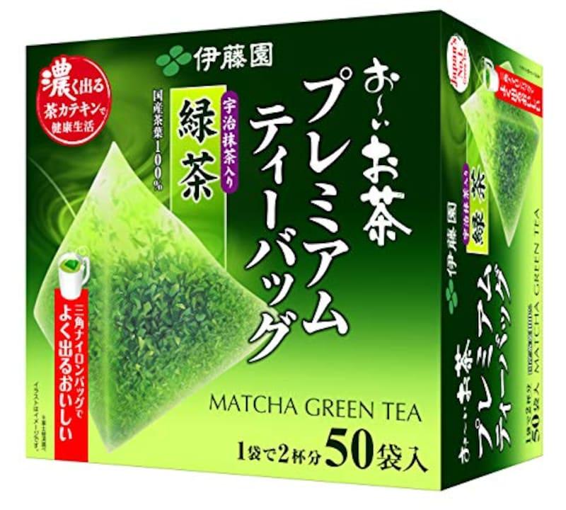 伊藤園,おーいお茶 プレミアムティーバッグ 宇治抹茶入り緑茶 1.8g ×50袋