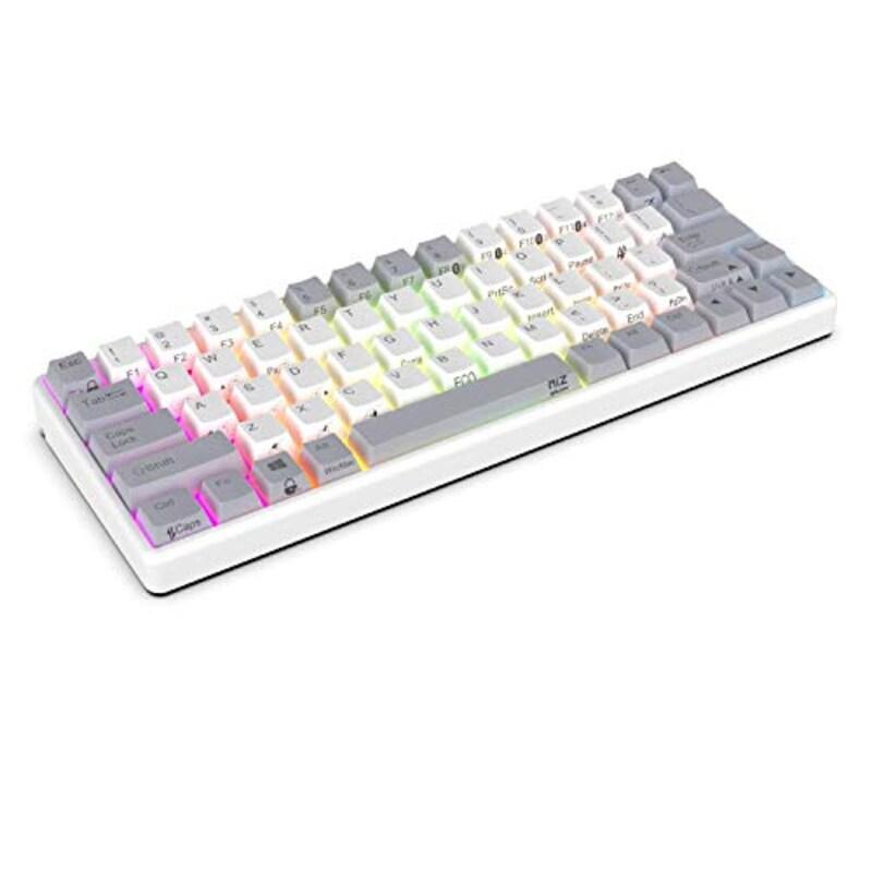 NiZ Keyboard,Atom66 White EC−Bluetooth RGB 35g,ATOM66-DM-35G-RGB