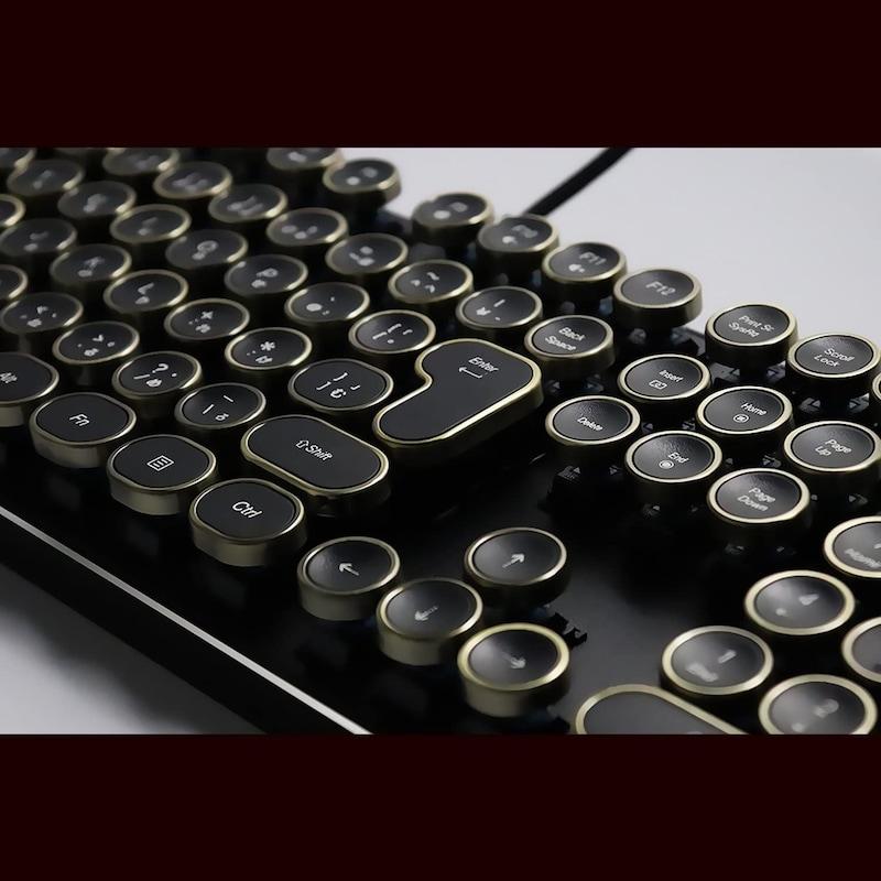 HKW,タイプライター風ゲーミングキーボード,WE-TYPKBJIS-AN