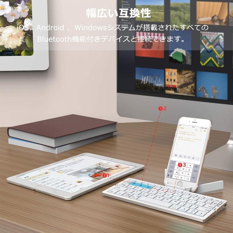 iClever,Bluetoothキーボード 縦折り,IC-BK11