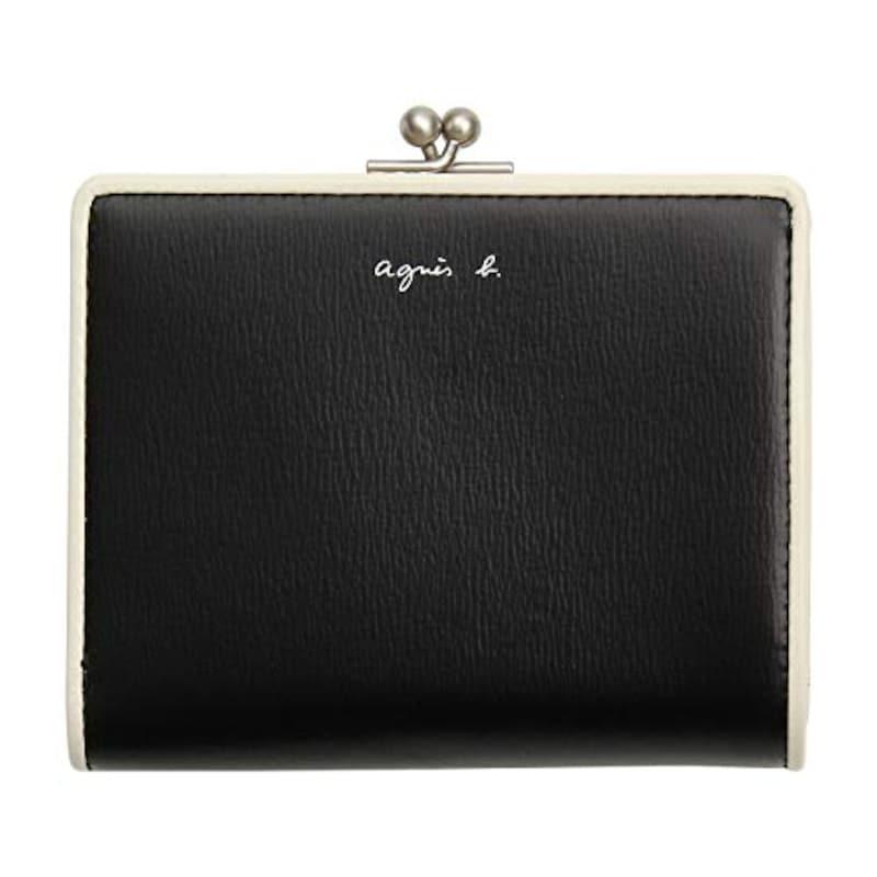 agnes b.(アニエスベー),VOYAGE FEMME (ヴォヤージュファム)ウォレット 二つ折り 短財布 がま口,EW04B-01