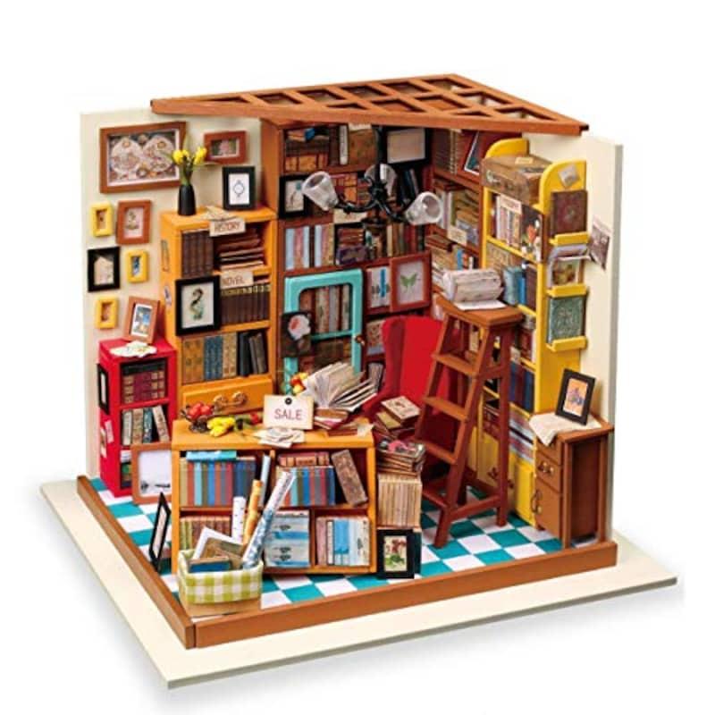 ROBOTIME,DIYドールハウス 本で山積みのサムの本屋さん,DG102