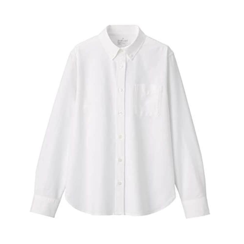 無印良品,洗いざらしオックスボタンダウンシャツ,44367711