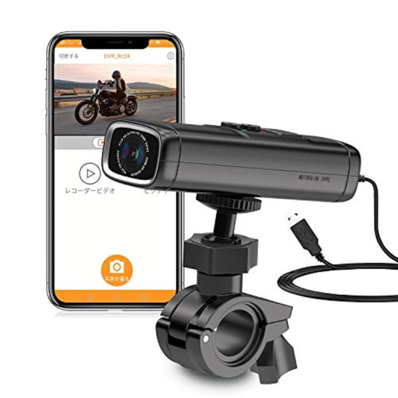 サメウオ,バイク用 ドライブレコーダー 防水/防塵 ,Q1-1440P