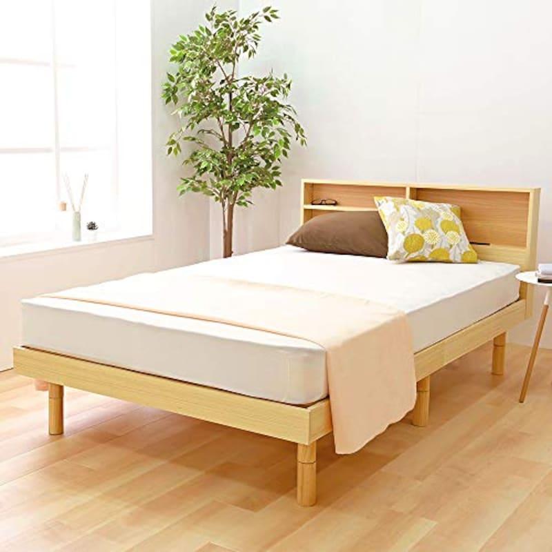 アイリスプラザ,収納棚付すのこベッド SD ナチュラル