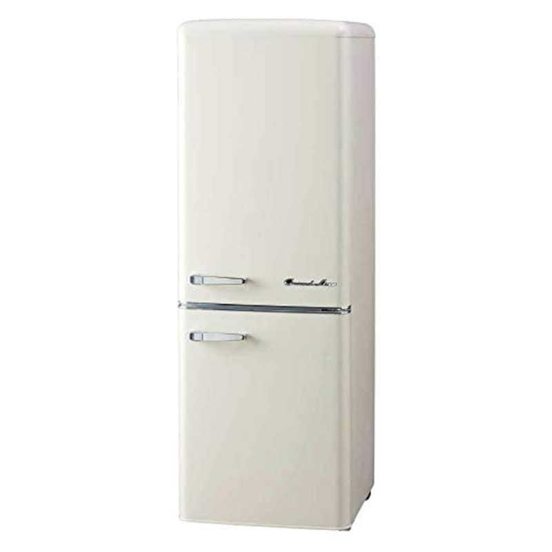 Grand-Line(グランドライン),2ドアレトロ冷凍冷蔵庫,ARE-198LW