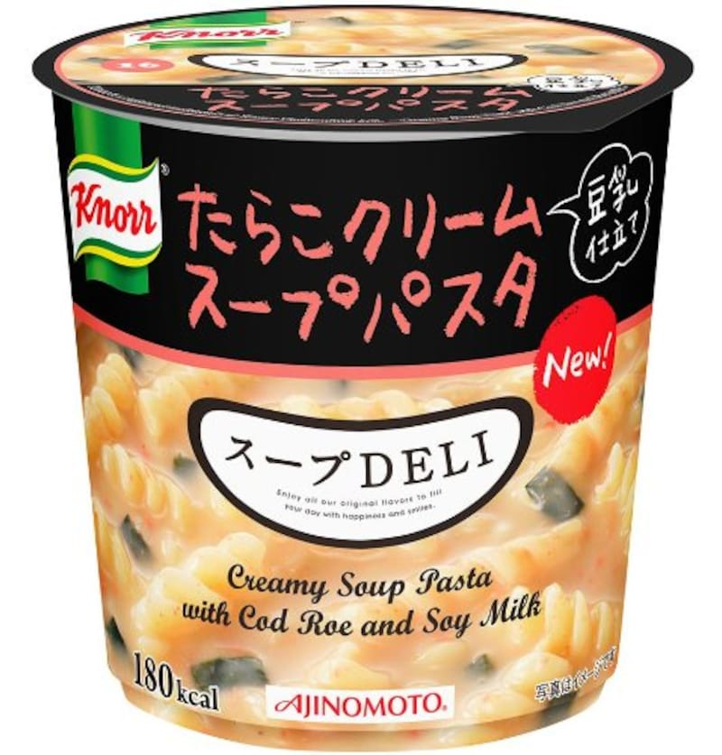 味の素,クノール スープDELI たらこクリームスープパスタ 豆乳仕立て