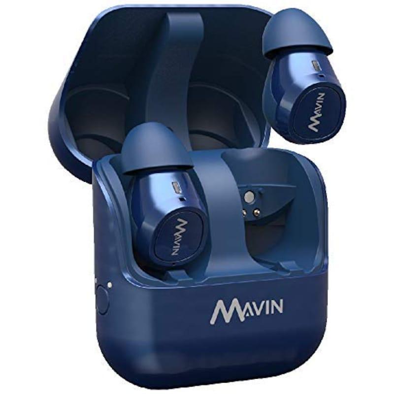 MAVIN(マービン),Air-X ブルー 完全ワイヤレスイヤホン,AIR-X/BE