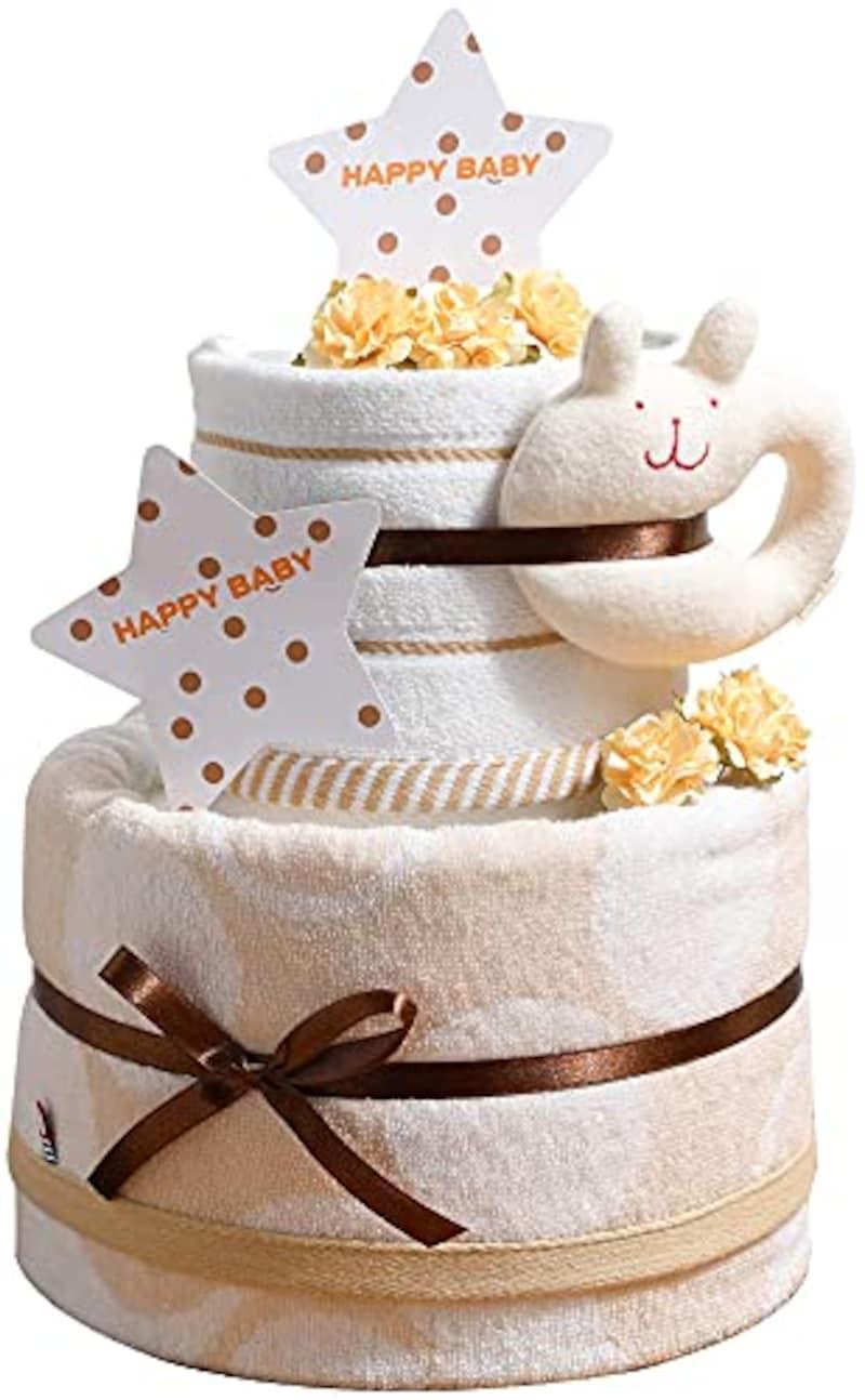 今治タオル,2段おむつケーキ