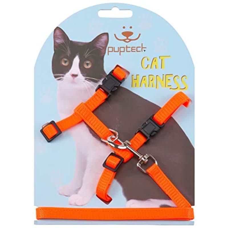 PUPTECK,猫用ハーネス,sep-27-BH-Orange