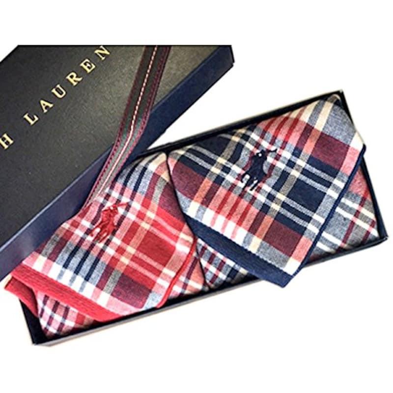 Ralph Lauren,タオルハンカチ ギフトBOX付き 2枚セット