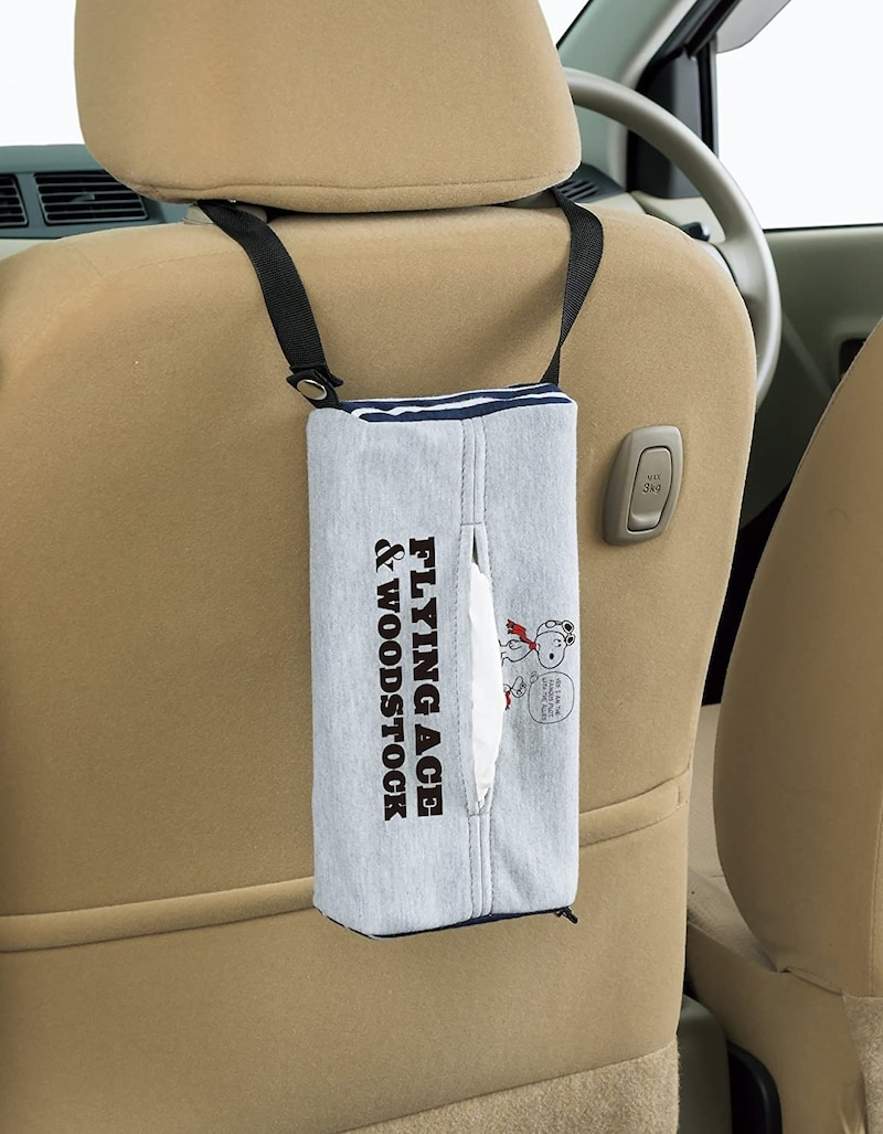 BONFORM(ボンフォーム),車用ティッシュケース スヌーピー フライングスヌーピー,7503-05GR