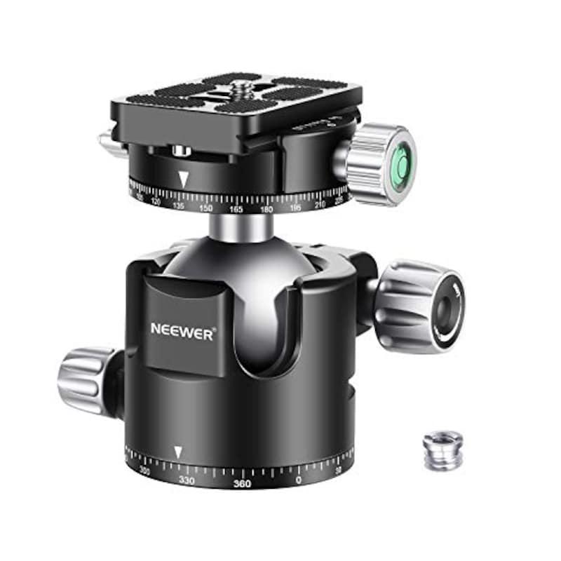 Neewer(ニューワー),44mm ロープロファイルボールヘッド 360°QRプレート&クランプ付き,10096977
