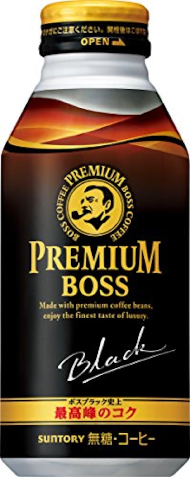 サントリー,BOSS(ボス)プレミアムボス ボトル ブラック 390g × 24本