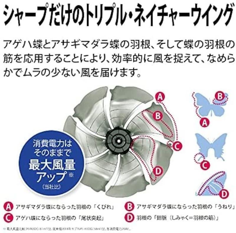 SHARP(シャープ),ハイポジションリビング扇,PJ-N3DG-W
