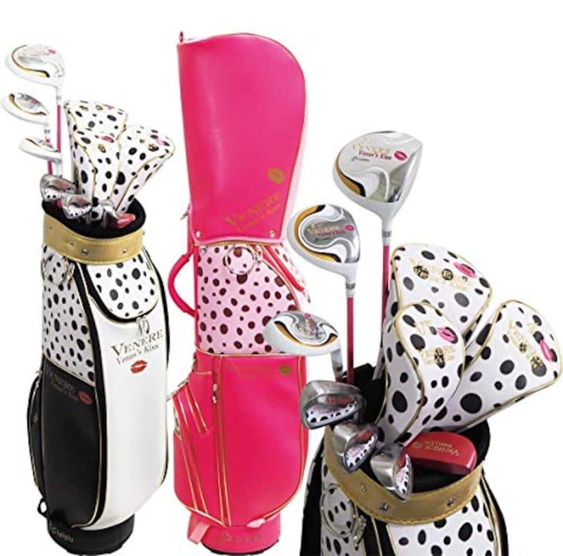 VENERE×Cielblu,レディースゴルフセット クラブ7本+キャディバッグ コラボ品