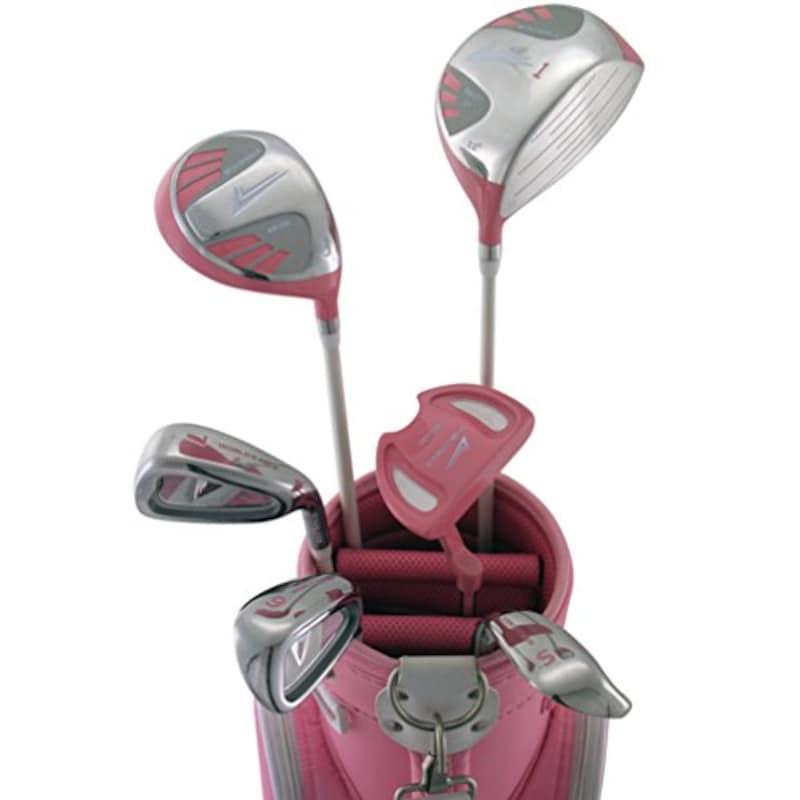 WORLD EAGLE(ワールドイーグル), 101 レディース ゴルフ ハーフセット 右用 ピンク