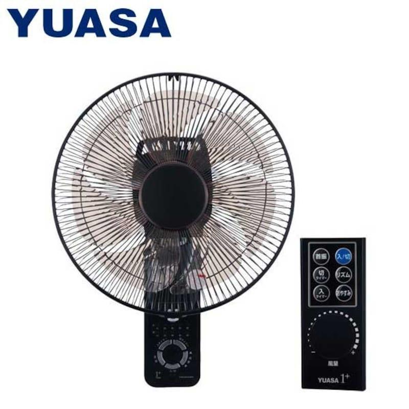 YUASA(ユアサ),壁掛け扇風機 DCモーター搭載式 リモコン付き,YTW-D361CFR
