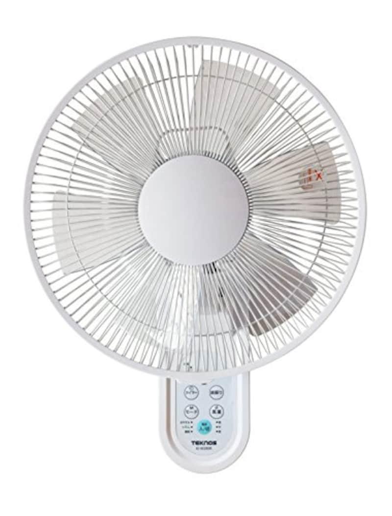 TEKNOS(テクノス),壁掛け扇風機 フルリモコン,KI-W280R