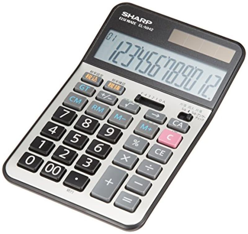 SHARP(シャープ),実務電卓 ナイスサイズタイプ,EL-N942X