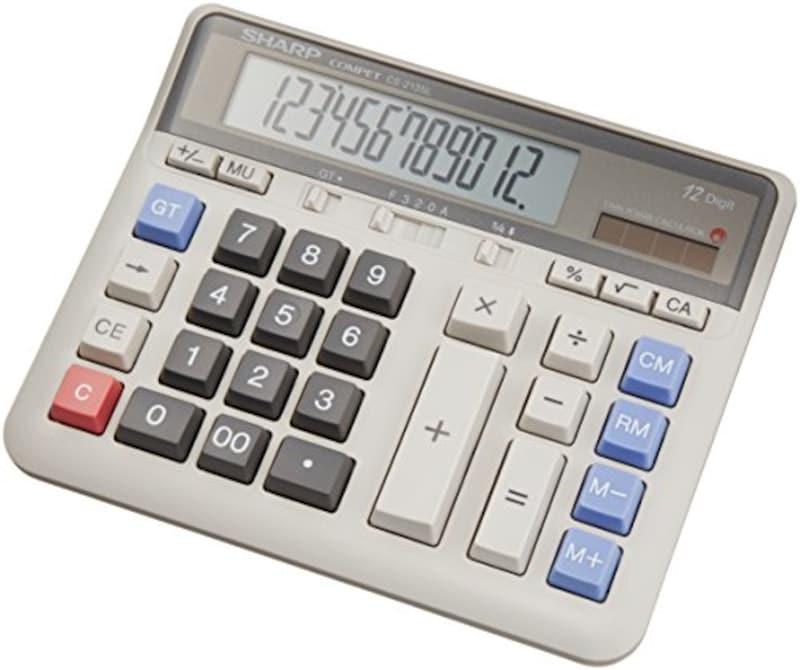 SHARP(シャープ),実務電卓 デスクトップタイプ 12桁,CS-2135L