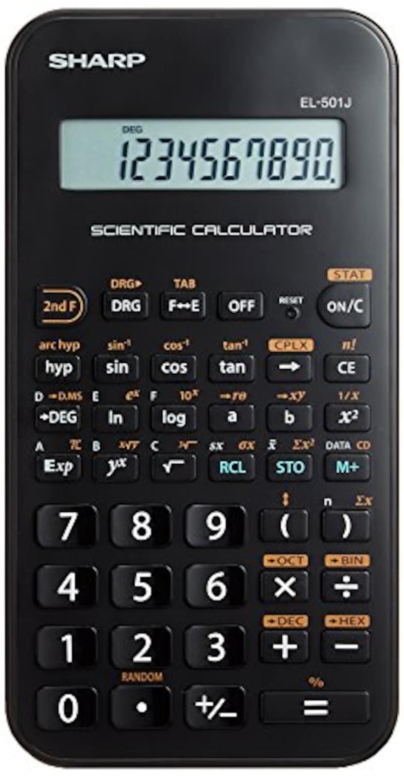 SHARP(シャープ),関数電卓 68関数機能 ライン表示 スライド式ハードケースタイプ,EL-501JX