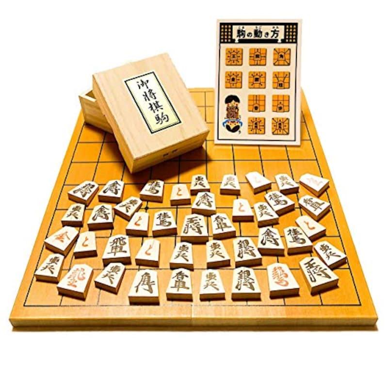 鈴花堂,人気の将棋セット 新桂5号折将棋盤と天童木製将棋駒