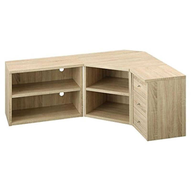 ぼん家具,テレビ台 コーナー 3点セット 32型,tvbhm0330