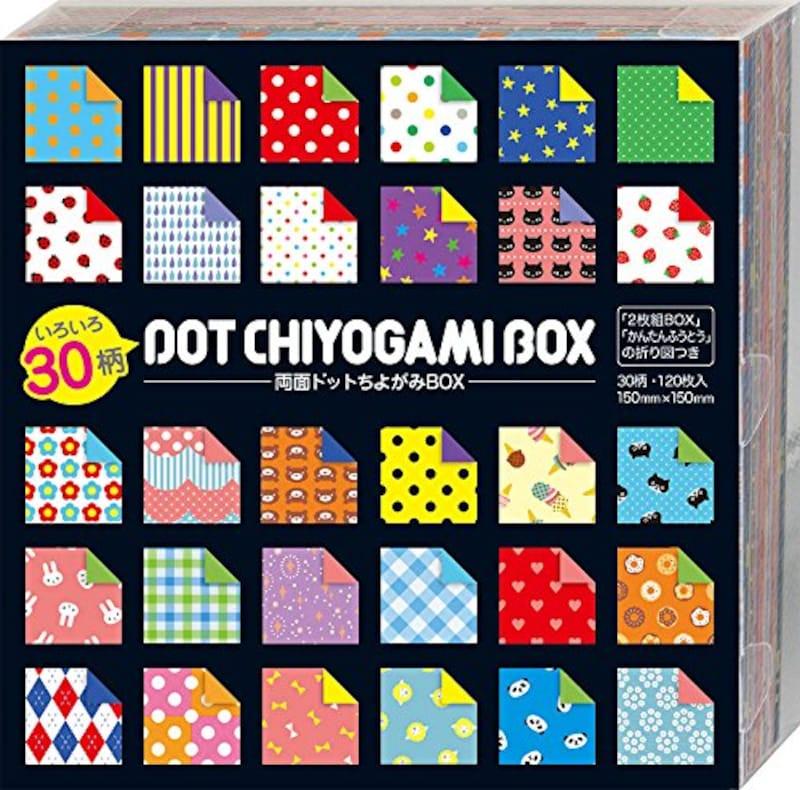 ショウワグリム,折り紙 両面 ドット ちよがみ BOX,23-2187