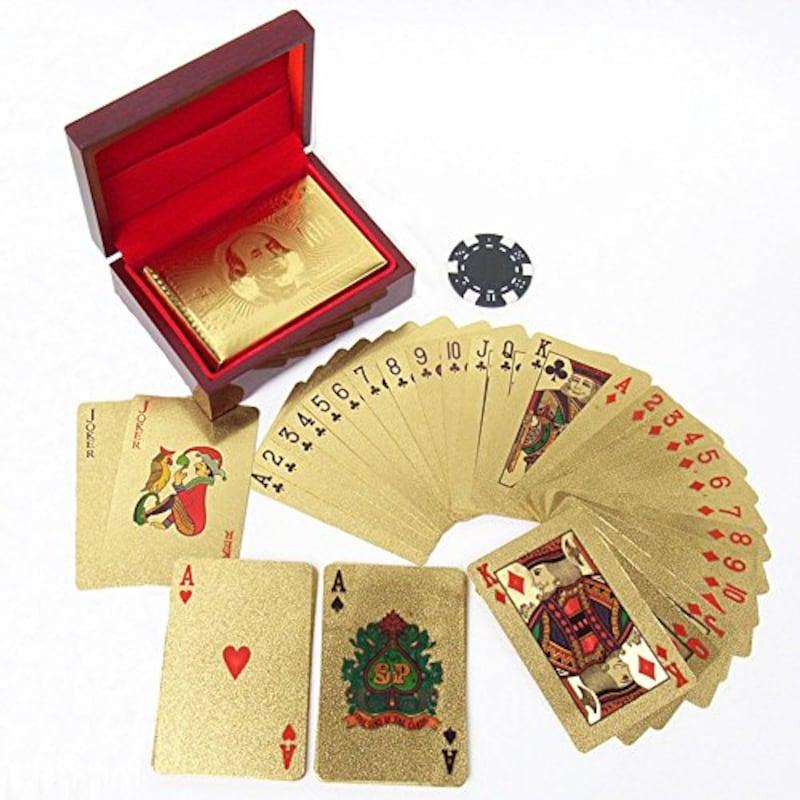 RedBeryl(レッドベリー),トランプ ゴールド プラスチック 専用ケース付 金