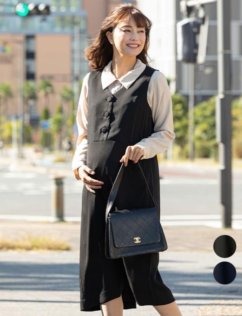 SWEET MOMMY(スウィートマミー),ノースリーブ オフィスワンピ 授乳服マタニティウェア