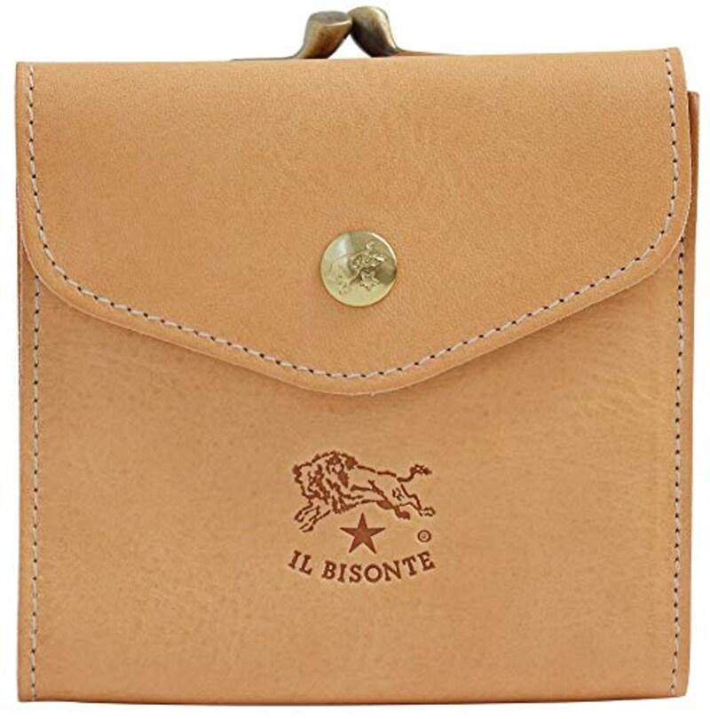 IL BISONTE(イルビゾンテ),2つ折り財布 小銭入れ付き,C0423