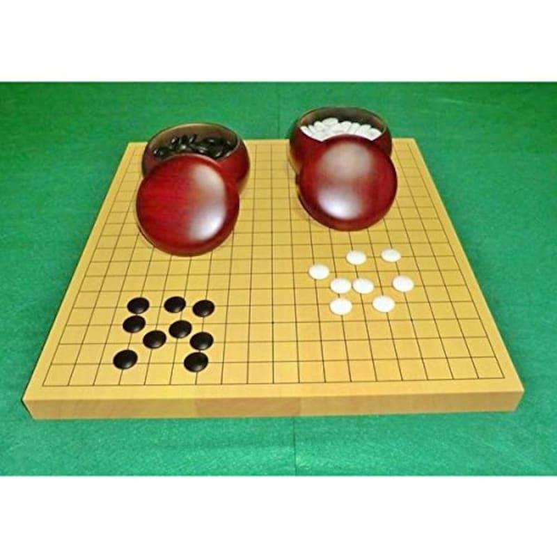 博英商会,囲碁セット 新榧 1寸 卓上碁盤,ー