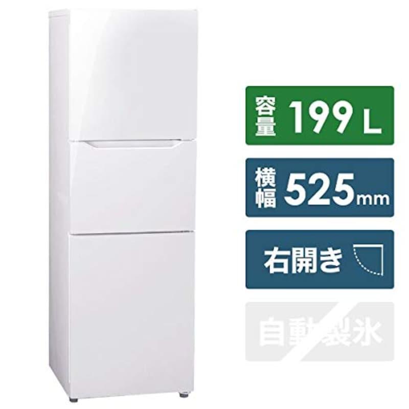 TWINBIRD(ツインバード),3ドア冷凍冷蔵庫,HR-E919PW