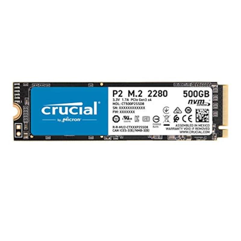 Crucial(クルーシャル),SSD P2シリーズ,CT500P2SSD8JP