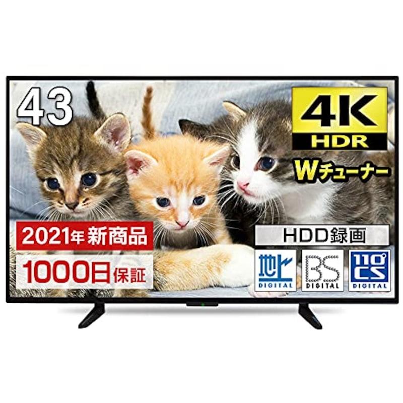 maxzen(マクスゼン),43V型 地上・BS・110度CSデジタル4K対応液晶テレビ,JU43TS01