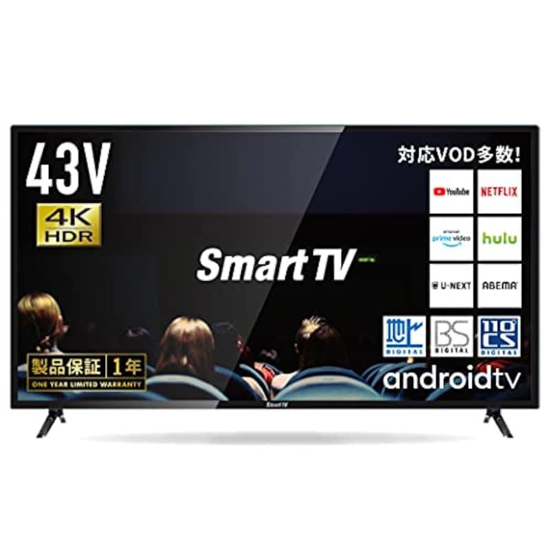 LED TOKYO,SmartTV 43V型 4K/HDR Android TV,LATUHD43