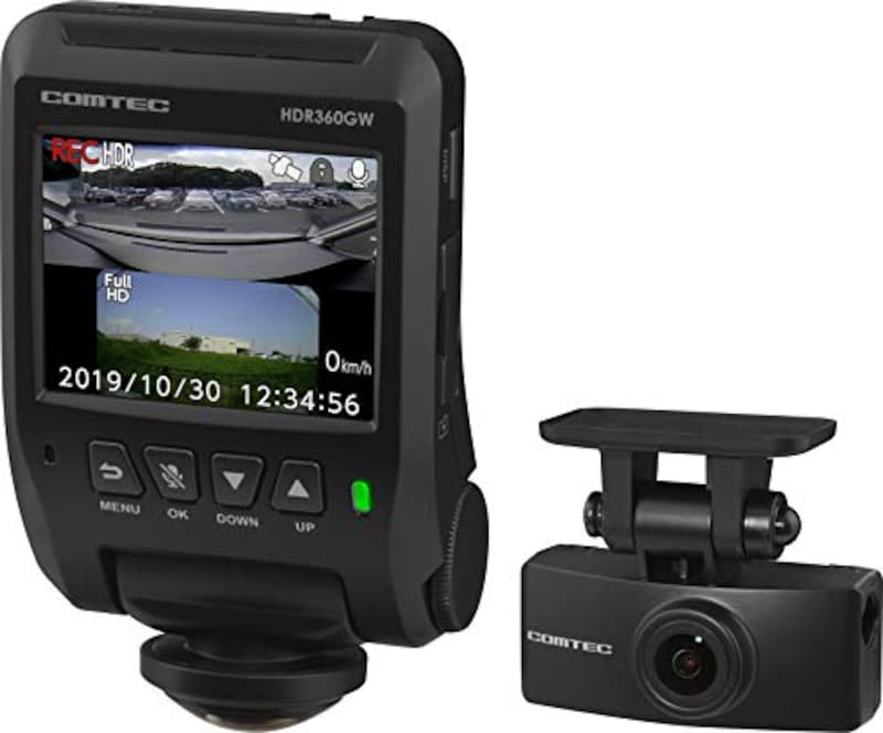 COMTEC(コムテック),360度全方向カメラ+リヤカメラ搭載 ドライブレコーダー ,HDR360GW