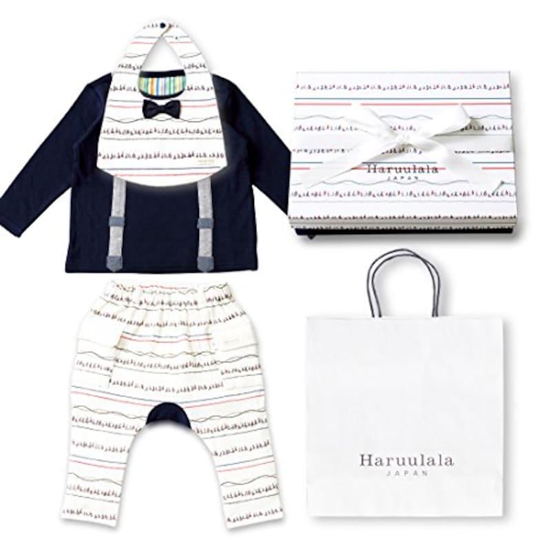 Haruulala(ハルウララ),男の子 オーガニックコットンベビー服3点セット