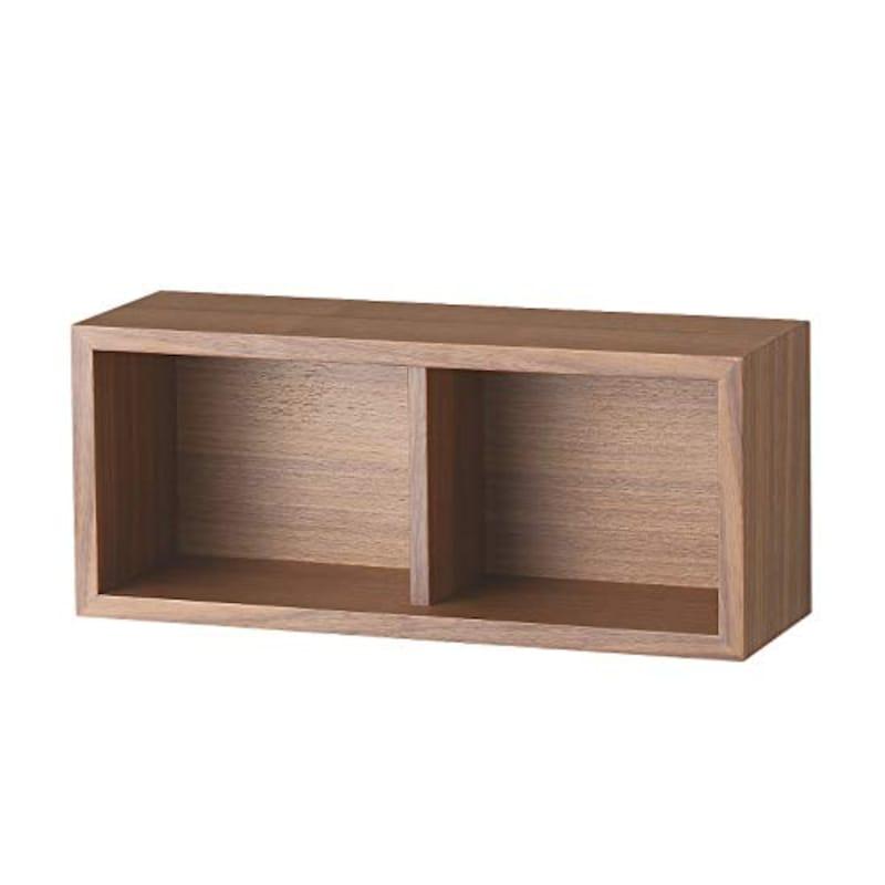 無印良品,壁に付けられる家具・箱・幅44cm・ウォールナット材,37286184