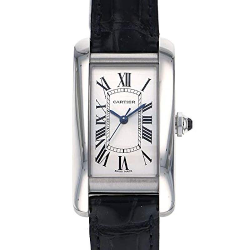 Cartier(カルティエ),タンク アメリカン MM WSTA0017 シルバー文字盤,WSTA0017