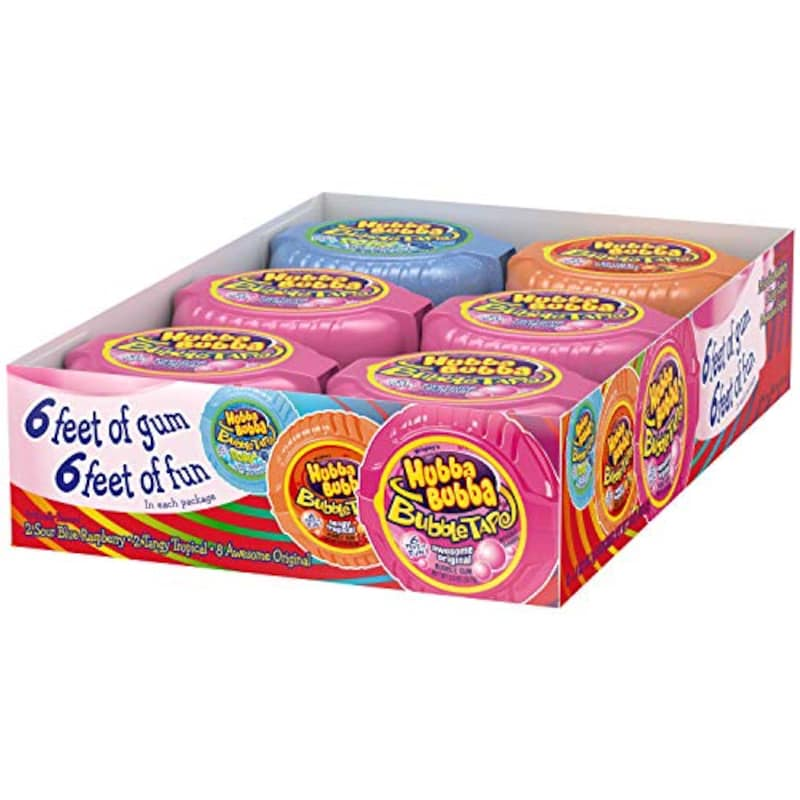 Hubba Bubba,Bubble Tape Gum 6Feet