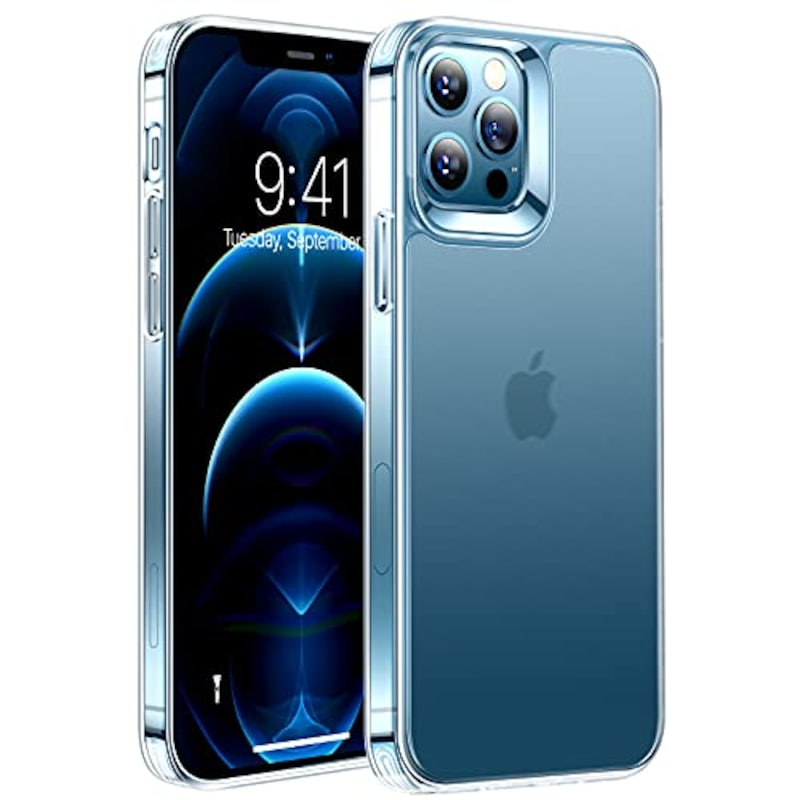 TORRAS,半クリア iPhone 12 用 ケース