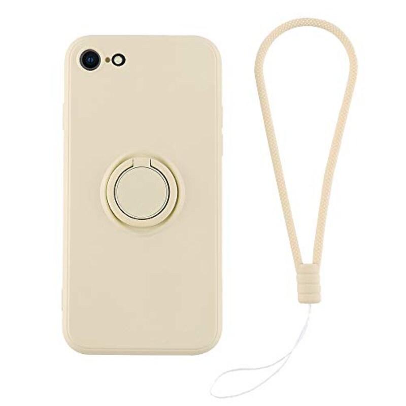 HanaRo,iPhone(SE第2世代)/8/7アイボリー リング付,HR-20CSE23