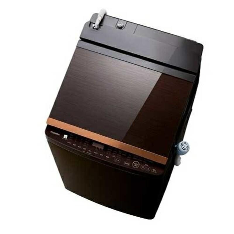 東芝(TOSHIBA),縦型洗濯乾燥機 ZABOON(ザブーン) グレインブラウン ,AW-10VH1-T