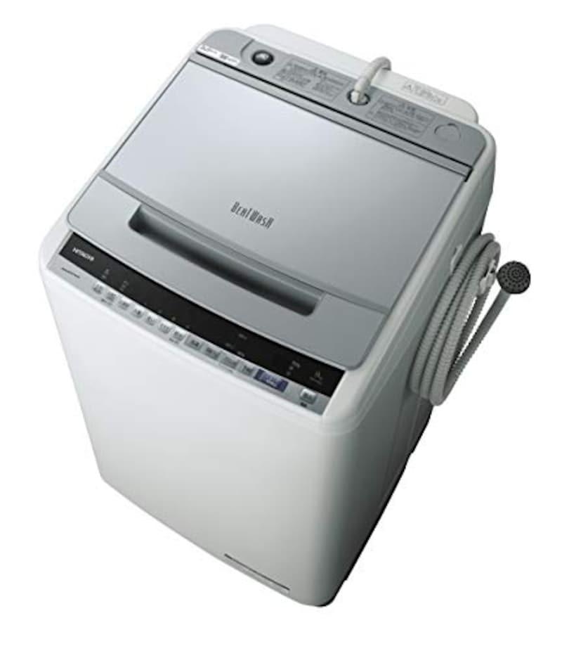 日立(HITACHI),全自動洗濯機 9kg シルバー ビートウォッシュ ,BW-V90E S