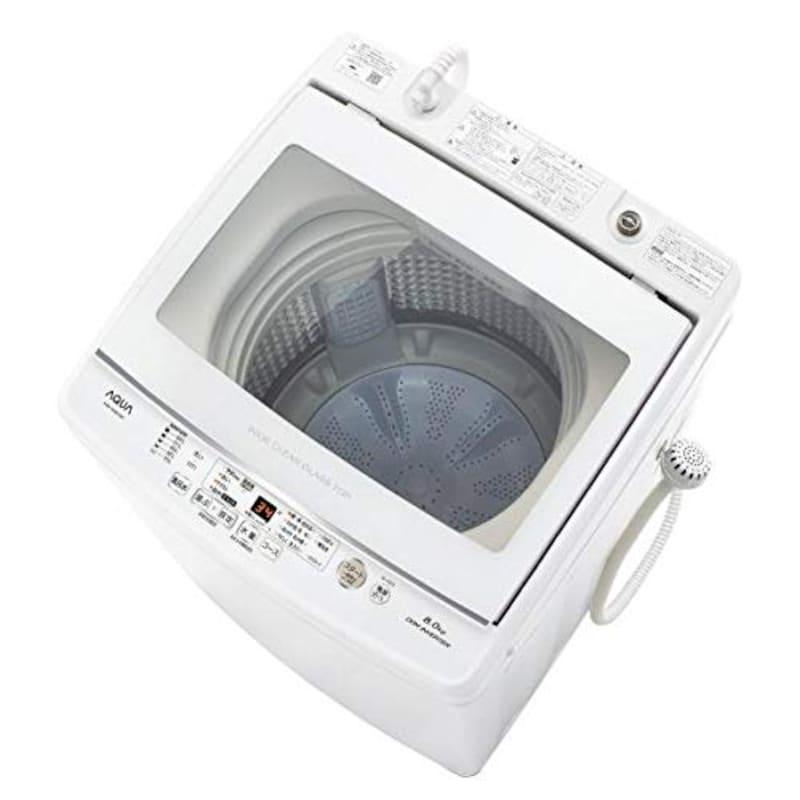 Aqua(アクア),全自動洗濯機 上開き 洗濯8kg,AQW-GV80J-W(ホワイト)