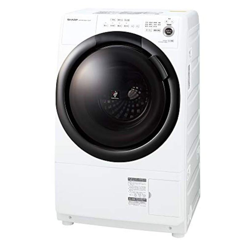 SHARP(シャープ),ドラム式 洗濯乾燥機 ヒーターセンサー乾燥 ,ES-S7F-WL