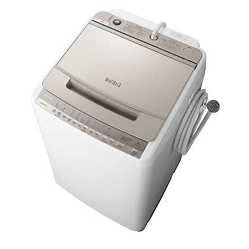 日立(HITACHI),8.0kg全自動洗濯機 ビートウォッシュ シャンパン ,BW-V80F N
