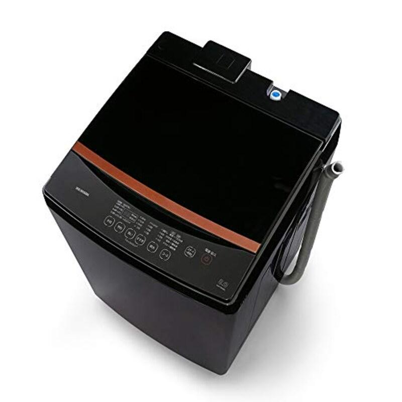 IRIS OHYAMA(アイリスオーヤマ),洗濯機 8kg ブラックレーベル 全自動 , IAW-T803BL